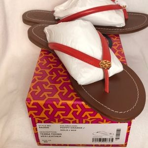🆕 Tory Burch Terra Thong Veg Leather Sandals